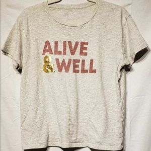 J Crew alive  and well t shirt .  Good condition.